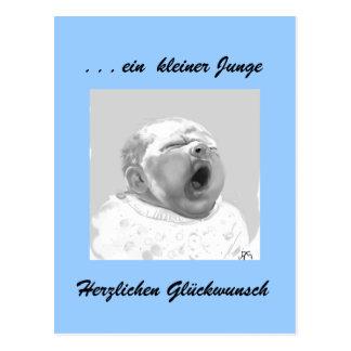 Bebé chico enhorabuena tarjeta postal