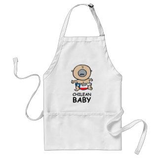 Bebé chileno delantales
