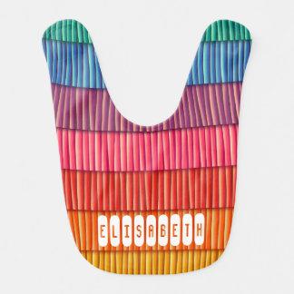 Bebé colorido abstracto del nombre del modelo de baberos de bebé