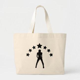 bebé con el icono de las estrellas bolsa tela grande