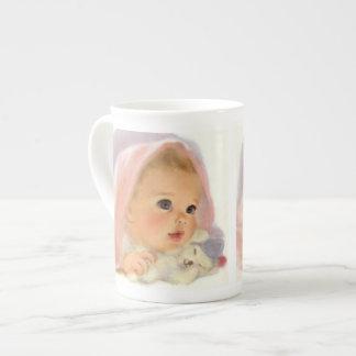 Bebé con el oso - taza de la especialidad taza de porcelana