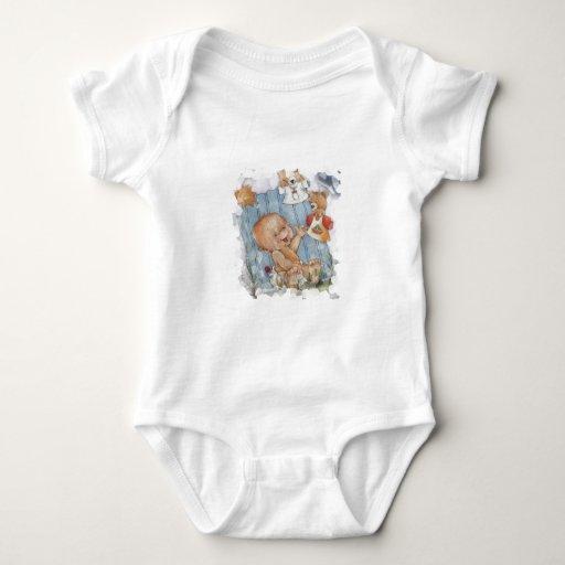Bebé con los juguetes t shirts