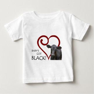 Bebé conseguido negro t-shirts