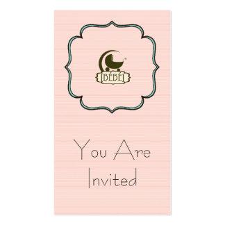 Bébé Custom Invitation Business Card