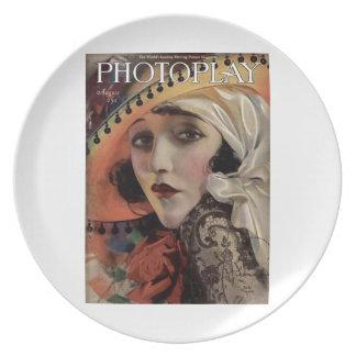 Bebe Daniels silent movie star magazine Plate