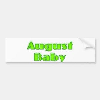 Bebé de agosto pegatina para auto