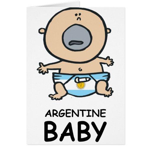 Bebé de Argentina Tarjeton