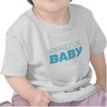 Bebé de Armwrestling (azul) Camiseta