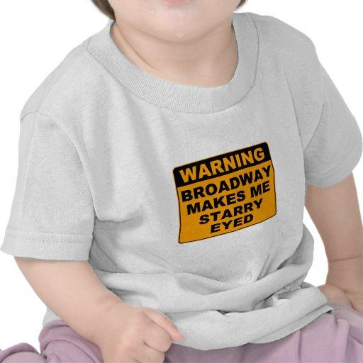 Bebé de Broadway Camisetas