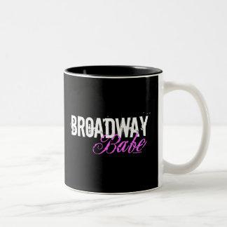 Bebé de Broadway Taza De Dos Tonos