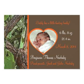 Bebé de Camo del árbol del arbolado Invitación