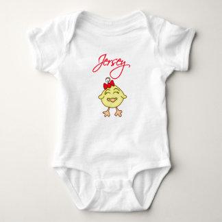 Bebé de Chickie del jersey Playeras