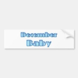 Bebé de diciembre pegatina para auto