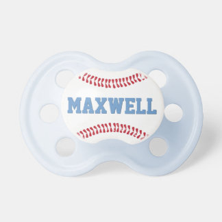 Bebé de encargo del diseño del béisbol del chupetes de bebe