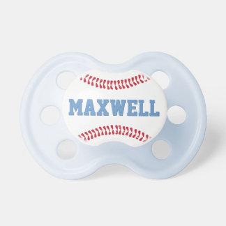 Bebé de encargo del diseño del béisbol del chupete de bebe