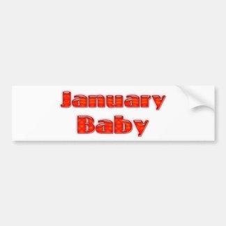 Bebé de enero pegatina para auto