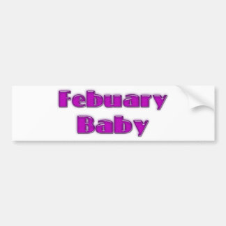 Bebé de febrero pegatina para auto