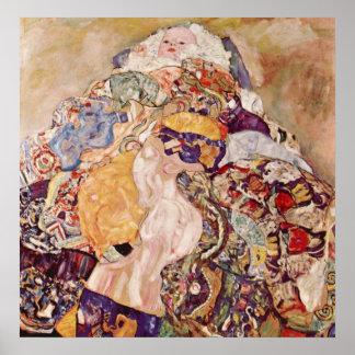 Bebé de Gustavo Klimt Posters