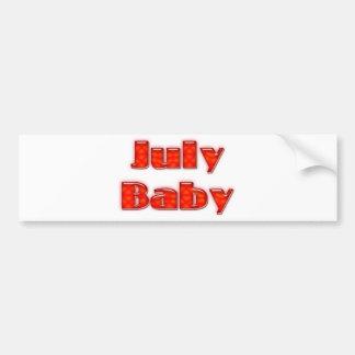 Bebé de julio pegatina para auto