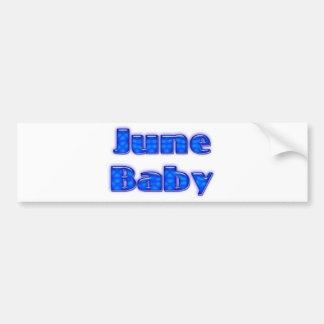 Bebé de junio pegatina para auto