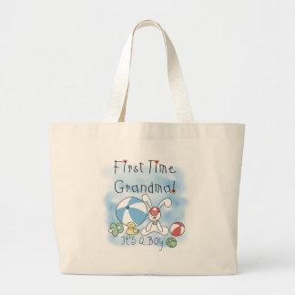 Bebé de la abuela de la primera vez bolsa tela grande