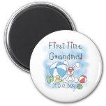 Bebé de la abuela de la primera vez imanes de nevera