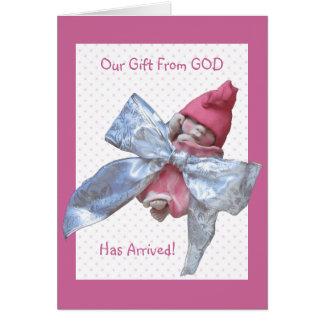 Bebé de la arcilla: Invitación del nacimiento: Tarjeta De Felicitación