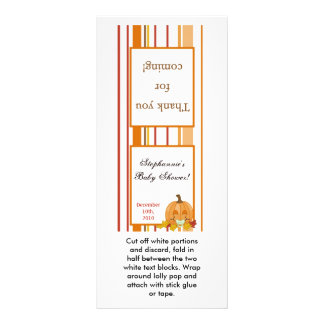 Bebé de la calabaza de la caída del otoño del prim tarjeta publicitaria personalizada