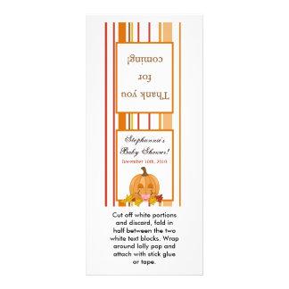 Bebé de la calabaza de la caída del otoño del prim tarjetas publicitarias a todo color