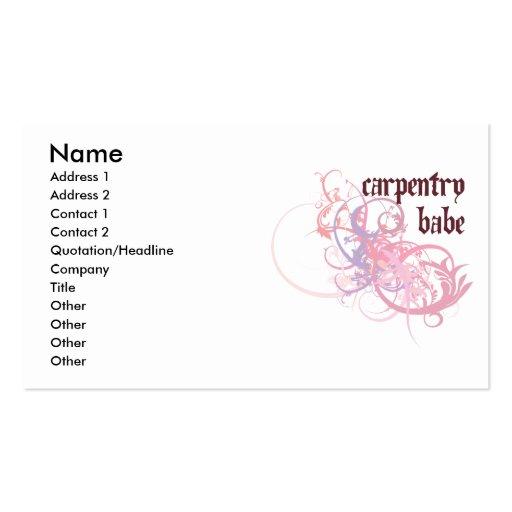 Bebé de la carpintería tarjetas de visita