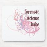 Bebé de la ciencia forense alfombrilla de ratones