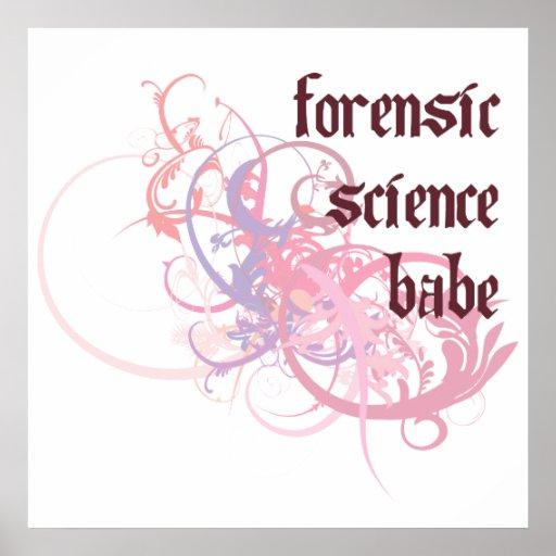 Bebé de la ciencia forense póster
