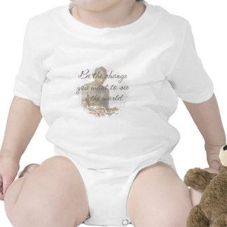 Bebé de la cita de Mahatma Gandhi Traje De Bebé