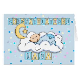 Bebé de la enhorabuena de Nana nuevo Tarjeta De Felicitación