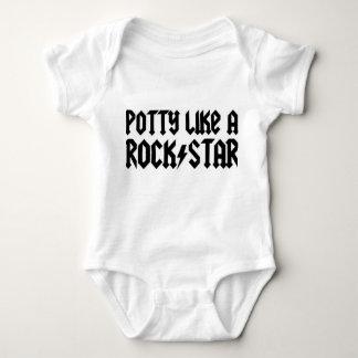 Bebé de la estrella del rock - enredadera infantil playera