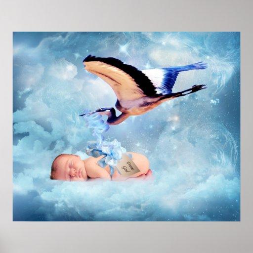 Bebé de la fantasía y poster del dormitorio de la