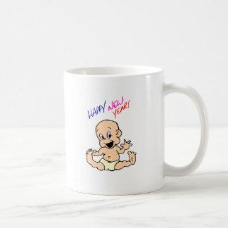 Bebé de la Feliz Año Nuevo Taza De Café