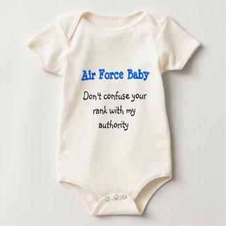 Bebé de la fuerza aérea body para bebé