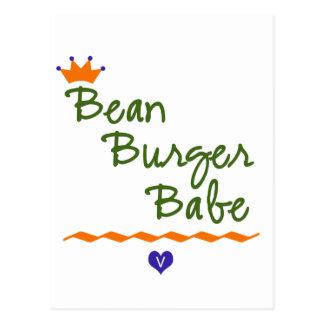 Bebé de la hamburguesa de la haba tarjeta postal