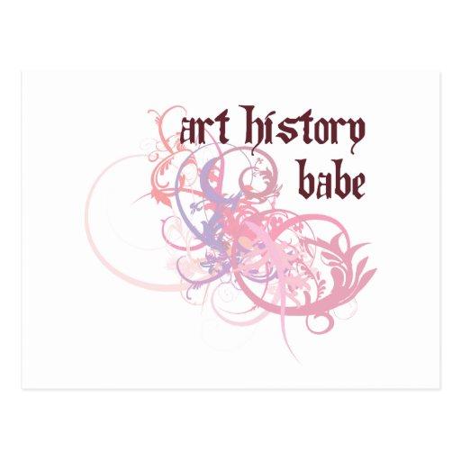 Bebé de la historia de arte postal