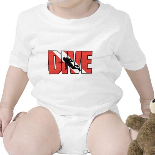 Bebé de la impulsión del EQUIPO DE SUBMARINISMO Camisetas