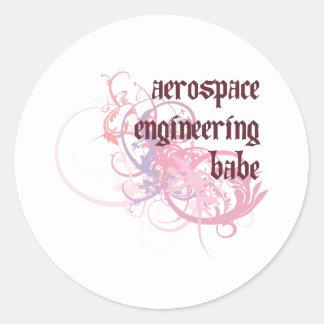 Bebé de la ingeniería aeroespacial etiquetas