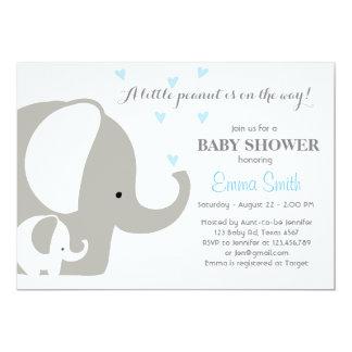 Bebé de la invitación del elefante de la fiesta de