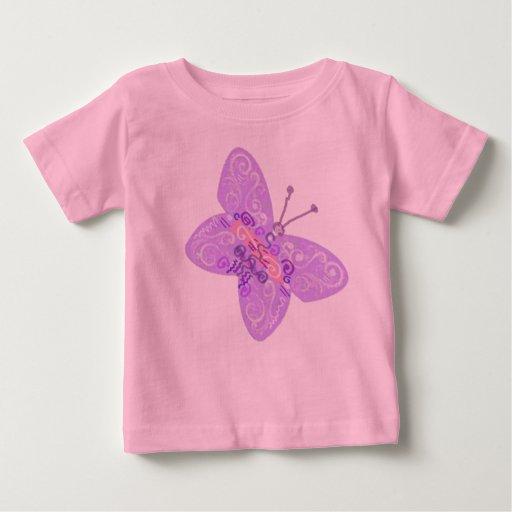 Bebé de la mariposa t shirts