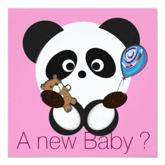 """Bebé de la panda invitación 5.25"""" x 5.25"""""""
