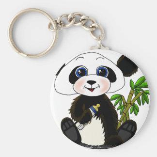 Bebé de la panda llavero personalizado