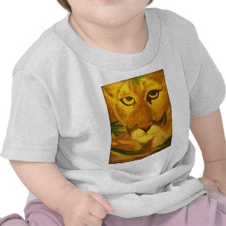 Bebé de la pantera y camisetas de los niños