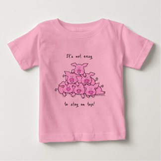 Bebé de la pirámide del cerdo/camiseta divertida t-shirts