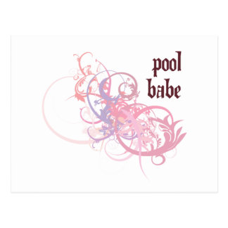 Bebé de la piscina tarjetas postales