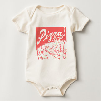 Bebé de la pizza del vegano del vintage trajes de bebé